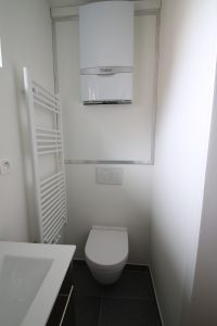 yeni kombi ve tuvalet